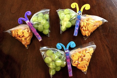 Healthy kids snacks- Butterfly Zip Lock bags