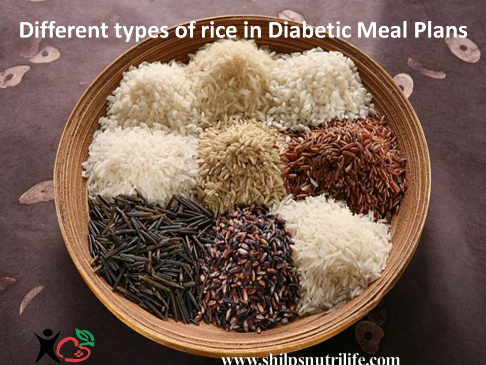 Different types of rice in  Diabetic Meal Plans