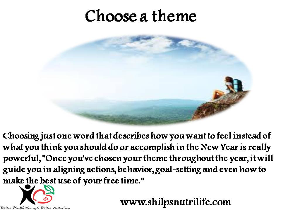 New year resolution – Choose a theme