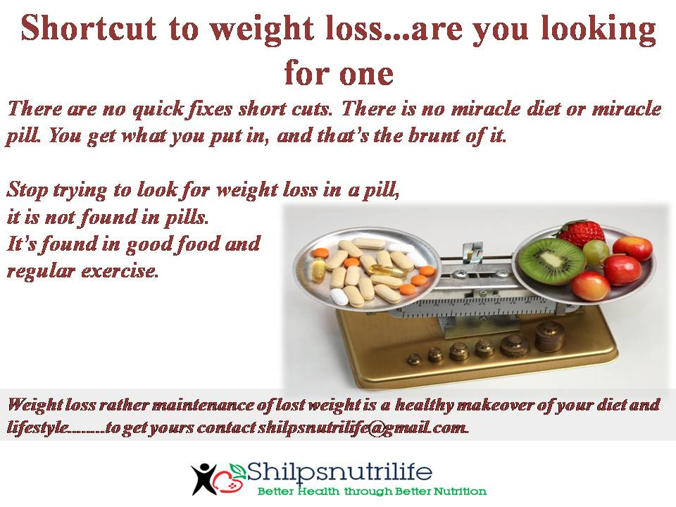 Shortcut to weight loss…are you looking for one