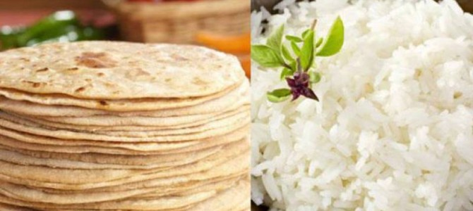 Rice vs roti