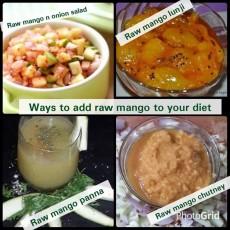 Culinary uses of raw mango