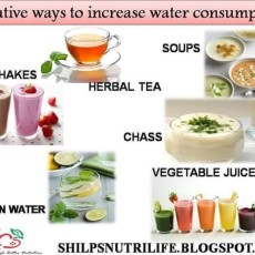 Creative ways to increase water consumption