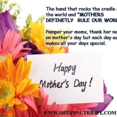 Celebrate mother's day  on a healthy note