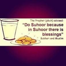 Don't skip Suhoor (pre-dawn meal)