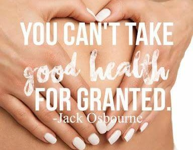 Don't take good health for granted