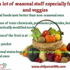 Eat a lot of seasonal stuff especially fruits and veggies