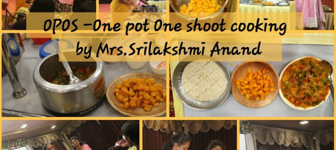 Synopsis of Nutrievent – Opos – One pot one shot cooking