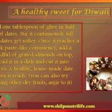 An easy healthy sweet dish for diwali