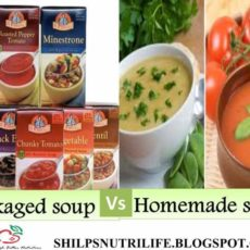 Packaged soup vs homemade soup