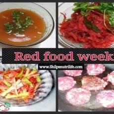 Red colour food week