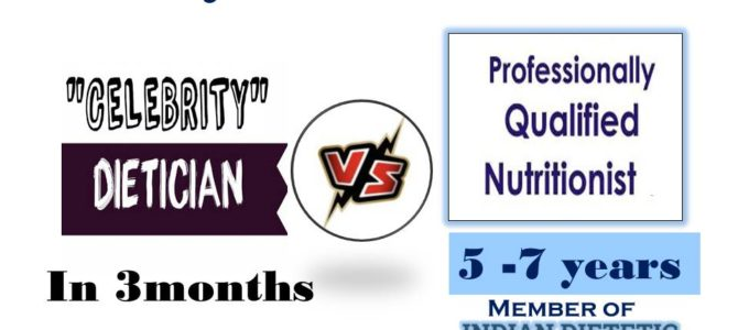 What a qualified dietician or nutritionist is…get your myths cleared