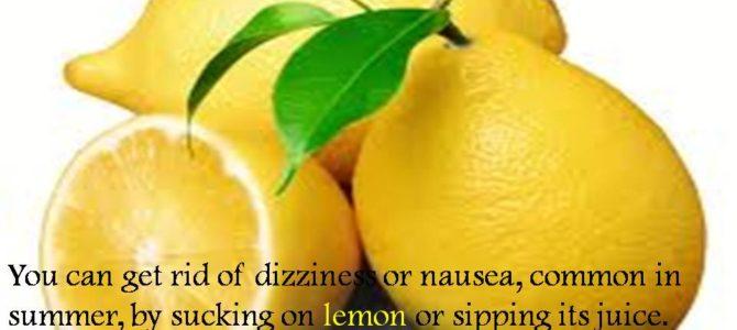 Lemon and sunstroke