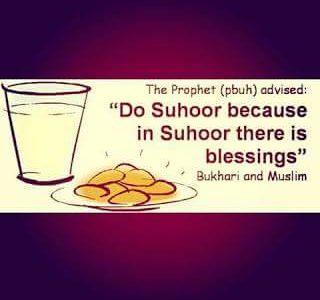 Don't skip Suhoor