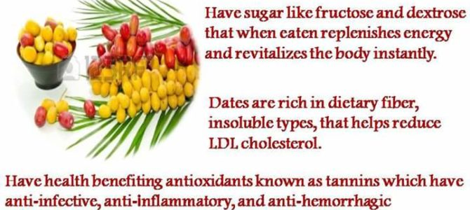 Fresh dates health benefits