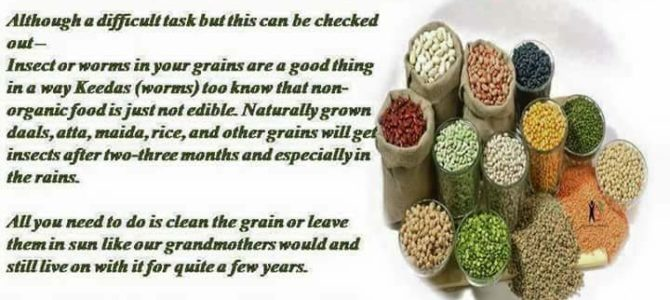 How to know if the grains,dals we buy are pesticide free or organic