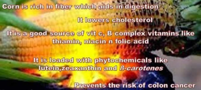 Corn on Cobb health benefits