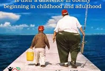Is their a difference in obesity beginning in childhood or adulthood