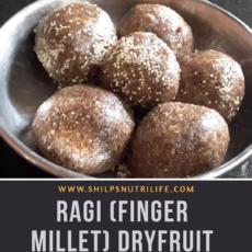 RAGI (FINGER MILLET) DRYFRUIT LADOO