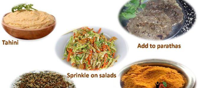 Culinary uses of Sesame seeds (til)