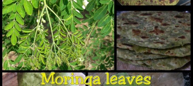 Drumstick (Moringa) leaves Paratha