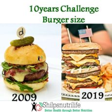 Portion distortion – 10 years challenge