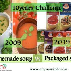 Homemade vs packaged foods