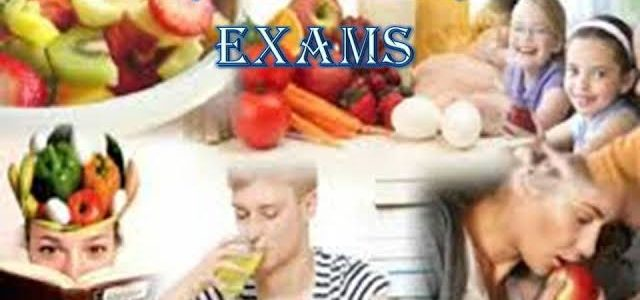 Nutrition during exams