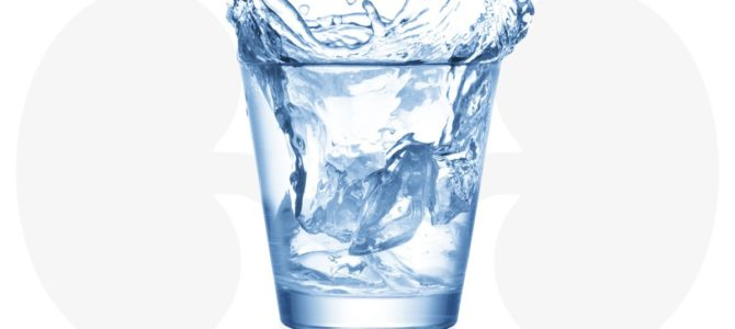 A glass of water first thing in the morning